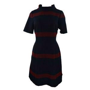 Tahari ASL Striped Short Sleeve Women Dress 10 New